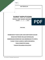 Form 016 Contoh Lampiran SK TUGAS Guru TIK