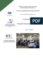 Desarrollo Profesional de Educacores Pisga Esp 2017