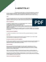 Qué Es La Hepatitis A
