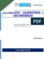 3.El Objetivo, La Hipotesis y Las Variables