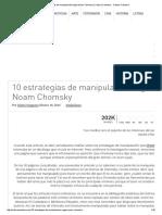10 Estrategias de Manipulación Según Noam Chomsky _ Cultura Colectiva - Cultura Colectiva