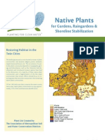Native Plants for Rain Gardens and Shoreline Stablization