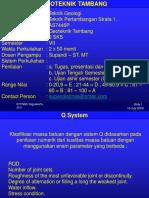 Geoteknik Tambang - Klasifikasi Batuan_Q System