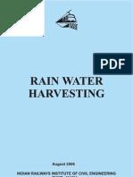 Rain Water Harvesting - Indian Railways Institute of Civil Engineering