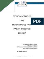 ESTUDOSOBREOSDIASTRABALHADOSPARAPAGARIMPOSTODE2017.pdf