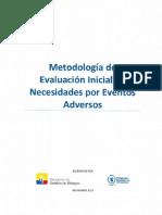 Metodologia de Evaluacion Inicial de Necesidades Por Eventos Adversos