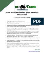 Nietzsche, Friedrich - Diez Mandamientos Para Escribir con Estilo.doc