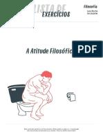 [FILOSOFIA_2016.02.05] Lista de exercício_A Atitude Filosófica OK