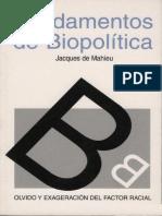 De Mahieu Jacques - Fundamentos de Biopolítica