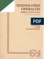 Tehnološke (Toplotne) Operacije - Zbirka - Vulićević, Cvijović