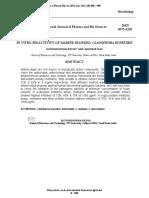 Bioactivity of Cladophora