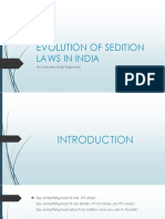 Evolution of Sedition Laws in India