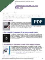 - 10 Libros Míticos Sobre Programación Que Todo Desarrollador Debería Leer