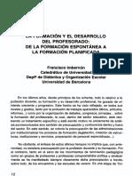 Imbernon_la Formacion y El Desarrollo Del Profesorado_de La Formación Espontánea