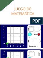 Juego de Matematica