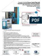 Computer Controlled Process Control Plant With Industrial Instrumentation and Service Module (Flow, Temperature, Level and Pressure)-CPIC