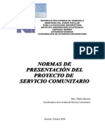 Manual para anteproyecto y proyecto de servicio comunitario IUPSM