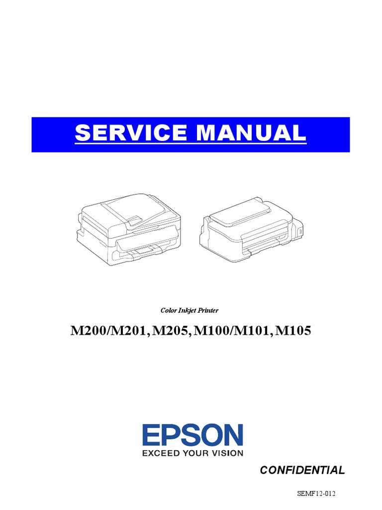 306554465-Epson-M105-SM pdf | Troubleshooting | Image Scanner