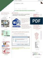 LuS EightEen ZoNE_ Tutoral Membuat WiFi LAPTOP Menjadi HOTSPOT Pada Windows 7, Gratis Tanpa ModalP