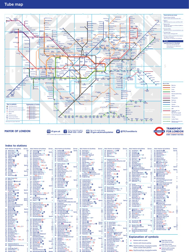 standard-tube-map.pdf | England | Rail Transport