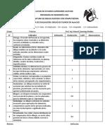 Cédula de Evaluación