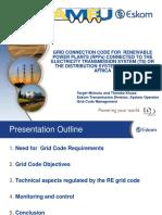 Grid Connection Code for Renewable Power Plants (RPPs) AMEU Eskom Presentation