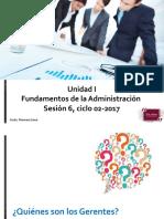 Fundamentos de La Administracion Clase Del 8 8 2017