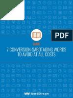 Conversion Sabotaging Words