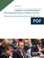 [Chatham House_YouGov] Internationalism or Isolationism?