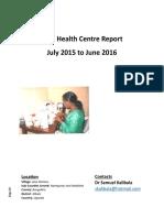 Toth Health Centre Report Jul 2015 to June 2016