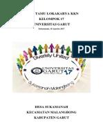 Buku Tamu Lokakarya Kkn Desa Sukamanah