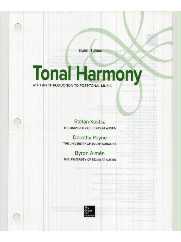 Kostka tonal harmony 8th edition fandeluxe Images