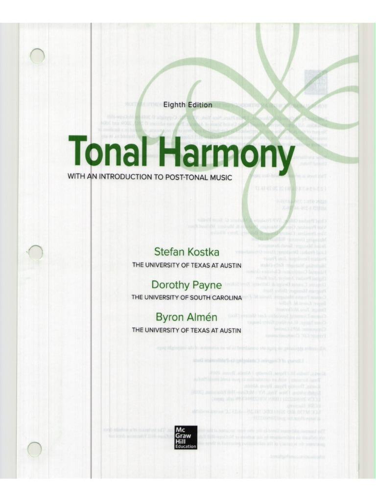 Kostka tonal harmony 8th edition fandeluxe Gallery