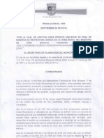 RESOLUCION 1650 Declaran Predios de Utilidad Publica en Chia
