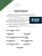 Aff of Quitclaim.doc