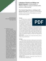 DUARTE, Evandro Piza; QUEIROZ, Marcos; ARGOLO, Pedro. Hipótese Colonial
