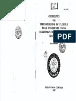 Irc 81 1997 Guidelines for Strengthening of Flexible Pavements Using Benklemen Beam Diflection Method
