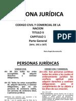 Personas Jurídicas- Derecho Civil i