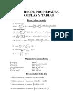 Tablas y Formulas