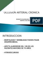 Oclusion Arterial Cronica