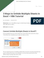 3 Ways to Unhide Multiple Sheets in Excel + VBA Macros
