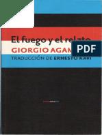 AGAMBEN, Giorgio - El Fuego y El Relato