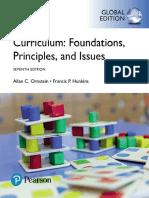 Francis P. Hunkins Allan C. Ornstein Curriculum Foundations, Principles, An