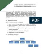 TOPIC 6 Pragmatics