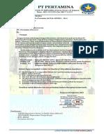 Surat Resmi PT.pertamina (Persero) Indonesia. BPS-2014.IV...-2