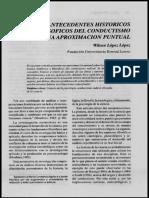 Lopez Antecedentes Historicos y Filosoficos Del Conductismo