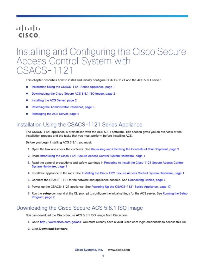 Installation Guide for Cisco ACS | I Pv6 | Command Line
