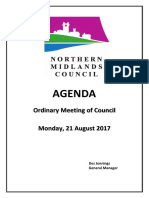 Northern Midlands August Council Agenda