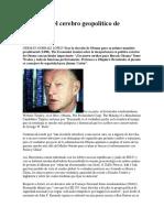 Brzezinski El Cerebro Geopolítico de Obama