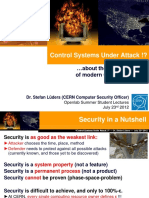 Control Systems Under Attack CERN Openlab Students 2012